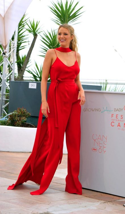 Pregnant actress Blake Lively attending the 'Cafe Society' photocall during The 69th Annual Cannes Film Festival in Cannes, France