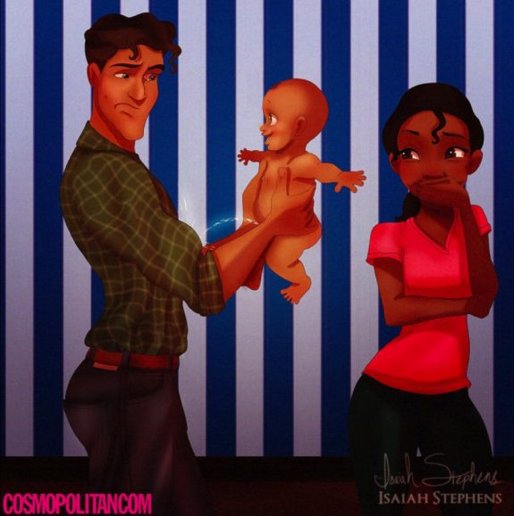 Tiana and Naveen as parents