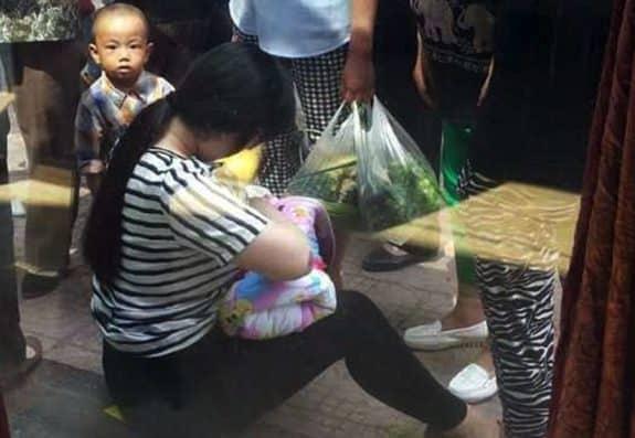 Woman Breastfeeds Abandoned Baby