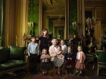 Queen Elizabeth 90th birthday photo with great grandchildren