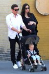 A very pregnant Liv Tyler out in NYC with partner Dave Gardner and son Sailor