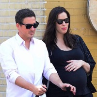 Liv Tyler and Dave Gardner Stroll With Their Sweetie