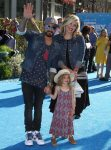 AJ Maclean with his wife and daughter at the Finding Dory Premiere