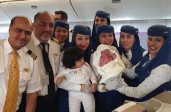 Baby girl born on flight from Jeddah to New York