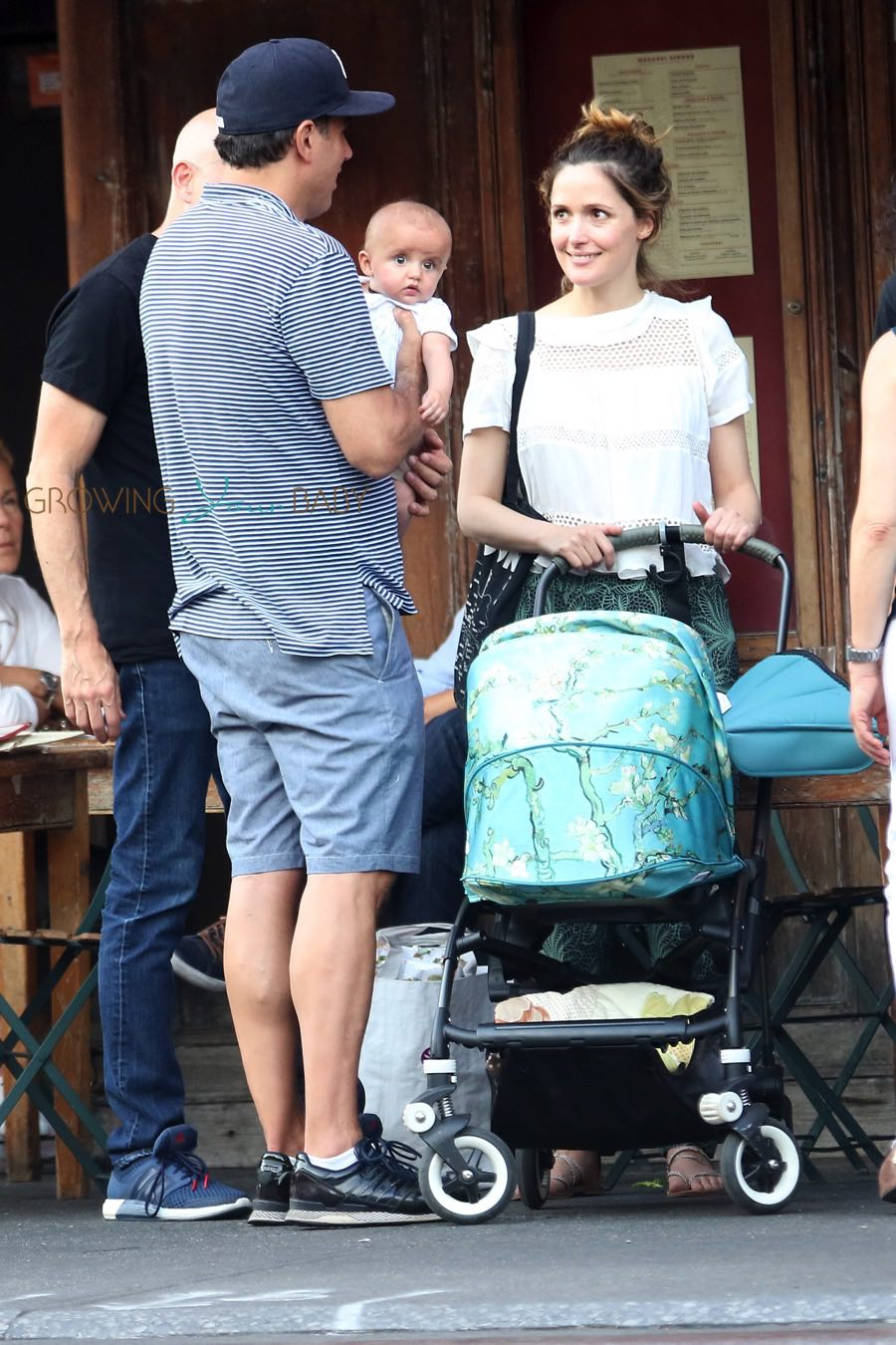 Bobby Carnavale and Rose Bryne out in NYC with son Rocco