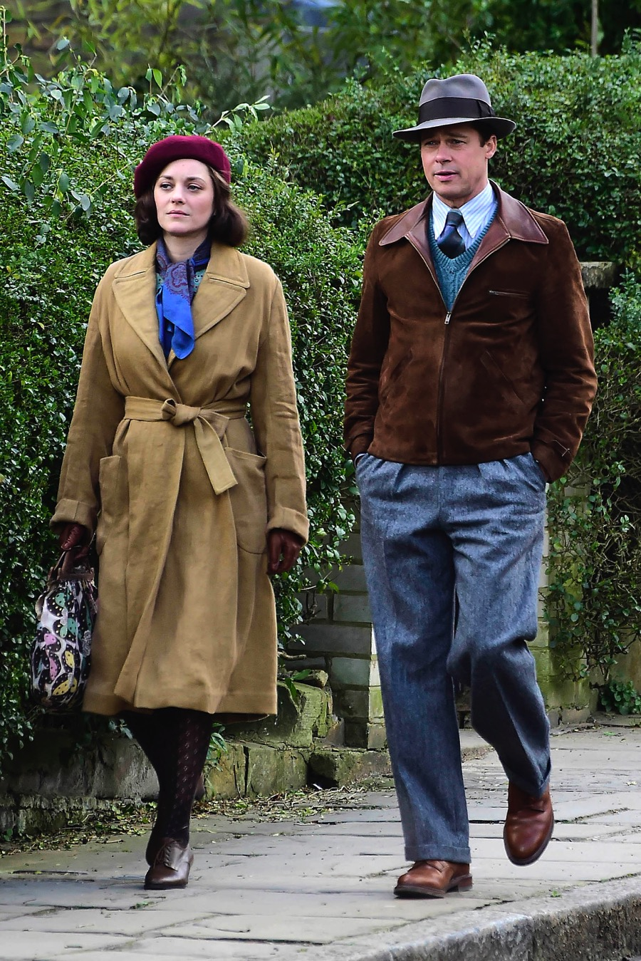 Brad Pitt And Marion Cotillard Film Allied In London Growing