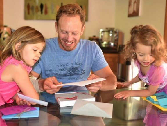 Ian Ziering with daughters Mia and Penna Father's Day