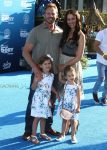 Ian and Erin Ziering with their daughters at the Finding Dory Premiere