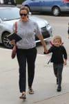 Jennifer Garner arrives at church with son Sam Affleck