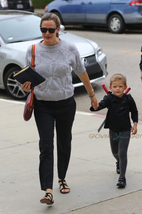 Jennifer Garner arrives at church with son Sam Affleck