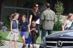 Jennifer Garner at Church with her kids Violet and Sam Affleck