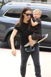 Jennifer Garner at Church with her son Sam Affleck