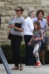 Jennifer Garner at church with daughter Seraphina Affleck