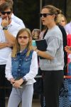 Jennifer Garner at church with daughter Violet affleck