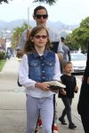 Jennifer Garner at church with daughter Violet affleck and son Sam