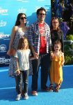 Johnny Knoxville with his wife Naomi and kids at the Finding Dory Premiere