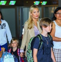 Kate Hudson Arrives in NYC With Her Boys!