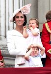 Kate Middleton watches The Trooping The Colour Parade 2016 with daughter Charlotte