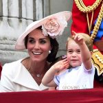 Kate Middleton watches The Trooping The Colour Parade 2016 with son Prince George