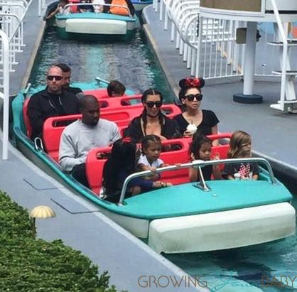 Kim Kardashian and Kanye celebrate North West's Birthday at Disneyland with Kourtney Scott, Mason and Penelope Disick