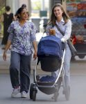 Lauren Bush steps Out With Her Son James In NYC