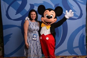 Lisa Arneill with Mickey Mouse