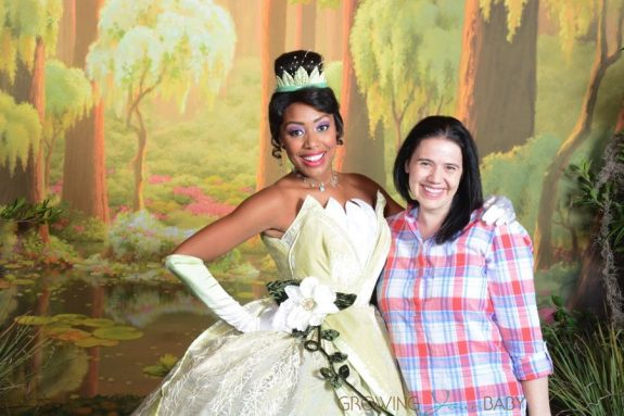 Lisa Arneill with Princess Tiana at WDW