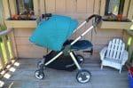 Mamas & Papas Armadillo Flip XT Stroller - full reclined with canopy up