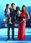 Mario and Courtney Lopez with their kids at the Finding Dory Premiere