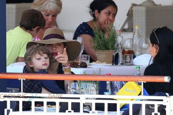Marion Cotillard with son Marcel Canet at the Longines Athina Onassis de Saint Tropez 2016