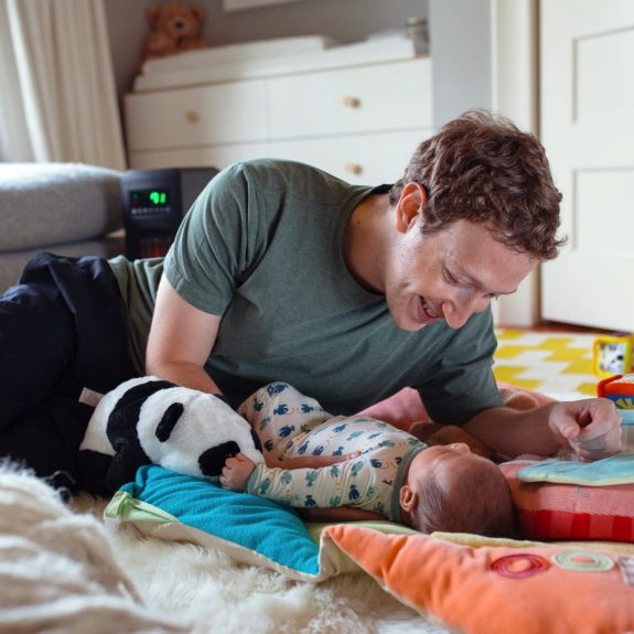 Mark Zuckerberg Father's Day with daughter Maxima