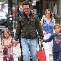 Matthew McConaughey Steps Out With Vida and Levi In NYC
