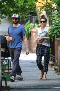 Matthew Rhys and Keri Russell with their new baby boy