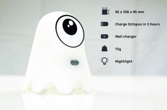 Octopus kids watch - charging station night light