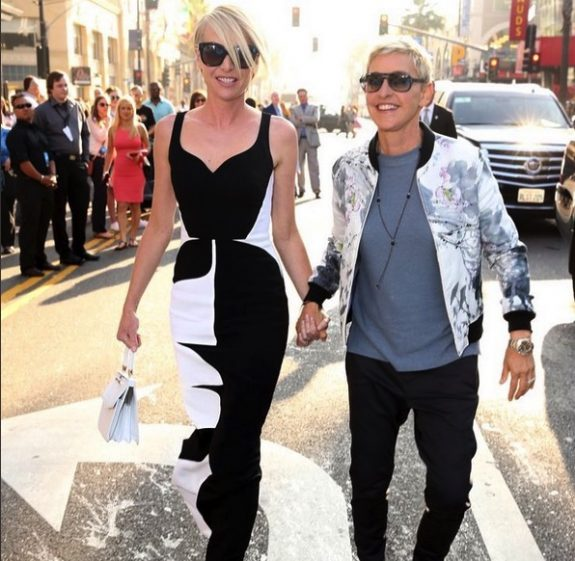 Portia and Ellen arriving at the Finding Dory premiere