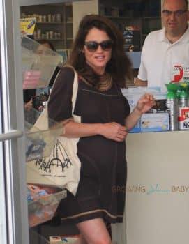 Pregnant Robin Tunney Runs Errands In Beverly Hills