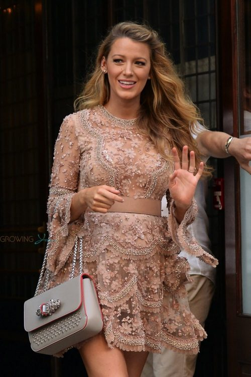 Pregnant Blake Lively All Smiles As She Heads To 'The Today Show' In NYC