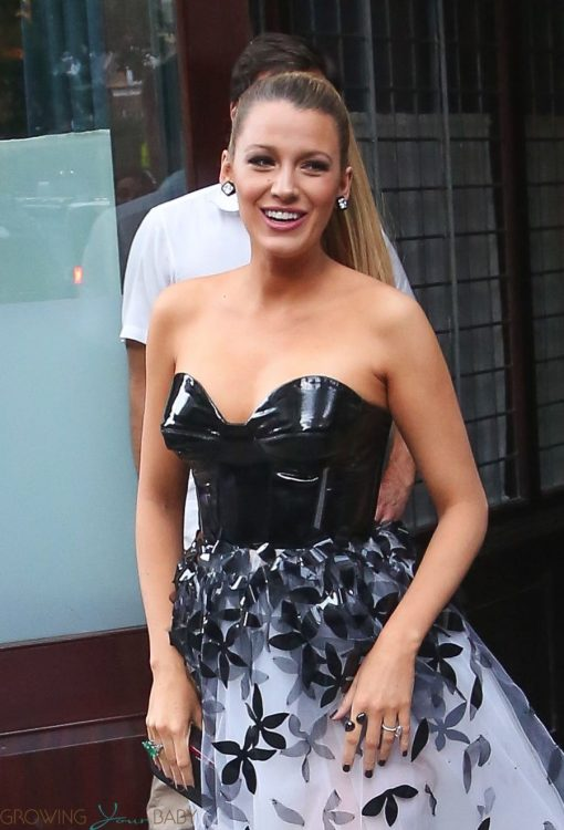 Pregnant Blake Lively Departs Her Hotel Heading to Premiere