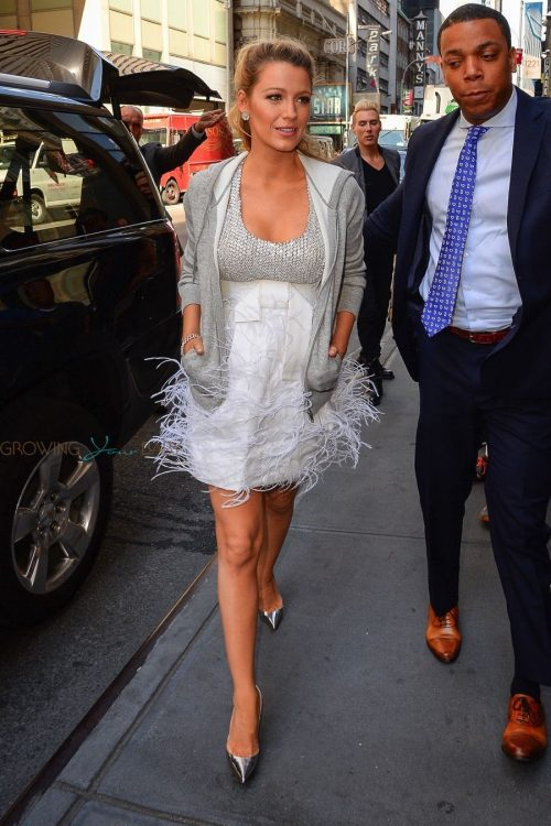 Pregnant Blake Lively Leaves Sirius Radio in NYC