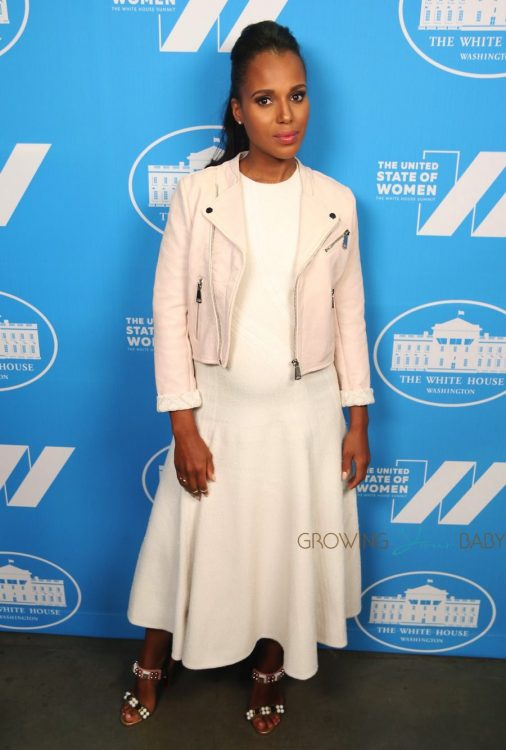 Pregnant Kerry Washington at the White House United State of Women Summit