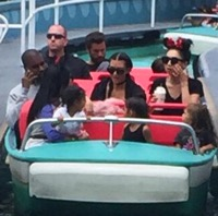 The Kardashians Visit Disneyland To Celebrate North's 3rd Birthday!