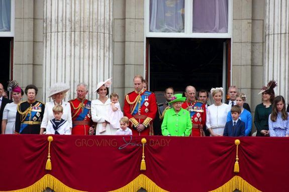 The Royal Family at Buckingham Palace for the Queen's official birthday Trooping of the colour 2016