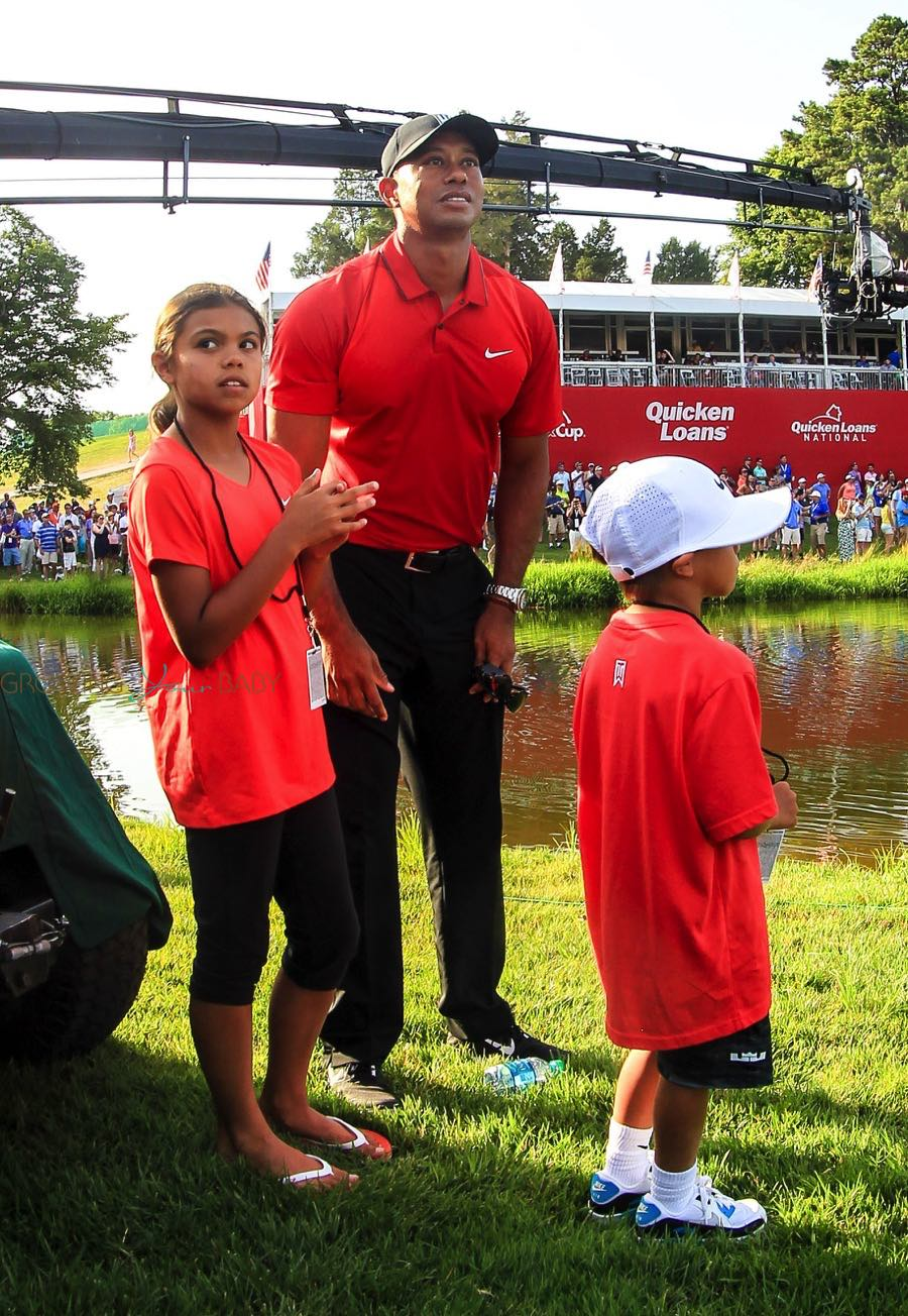 tiger woods attends the quicken loans national pga golf
