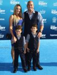 Tito Ortiz with twins Jett and Journey at the Finding Dory Premiere
