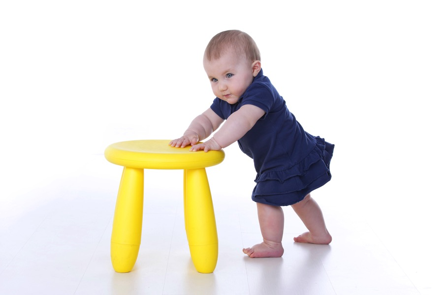 Babies Who Stand Up Early Flourish Later