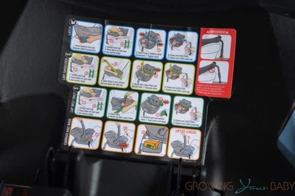 CYBEX Cloud Q infant Car Seat review - bas instructions