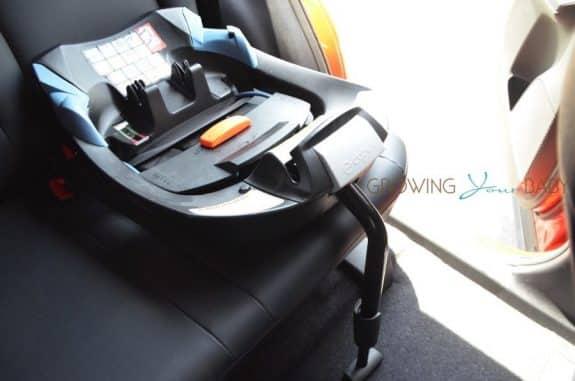 CYBEX Cloud Q infant Car Seat review - load leg installed