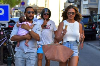 Chrissy Teigen and John Legend take Luna out for a casual stroll in St. Tropez