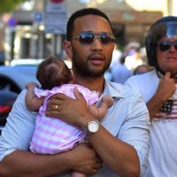 John Legend Cuddles His Cutie In Saint Tropez