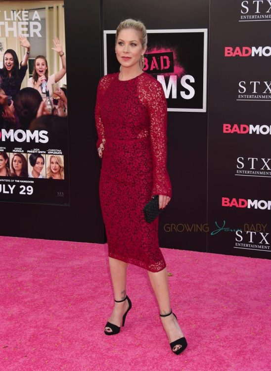 Christina Applegate walks the red carpet at the 'Bad Moms' LA Premiere